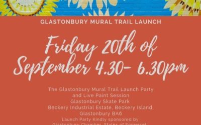 Launch of the Glastonbury Mural Trail for Somerset Art Weeks 2019
